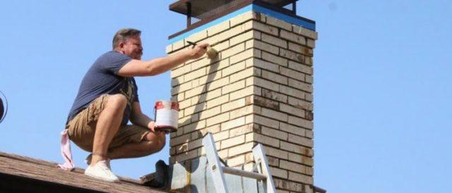 Чем покрасить кирпичный дымоход и как правильно это сделать?