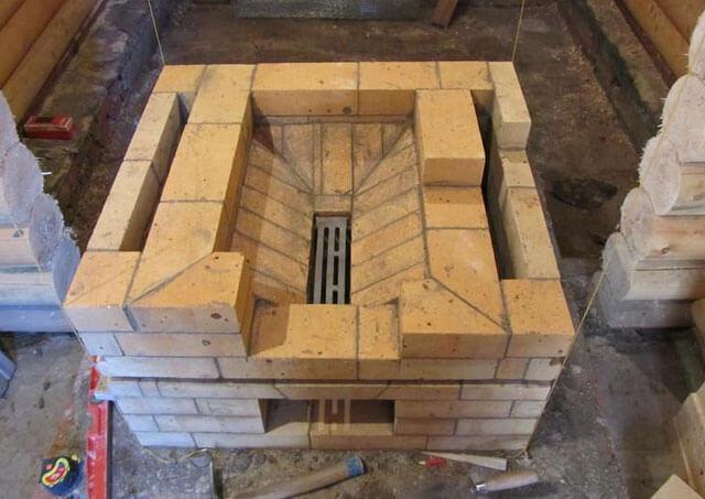 Кирпичная печь для бани: как сложить, чертежи, материалы