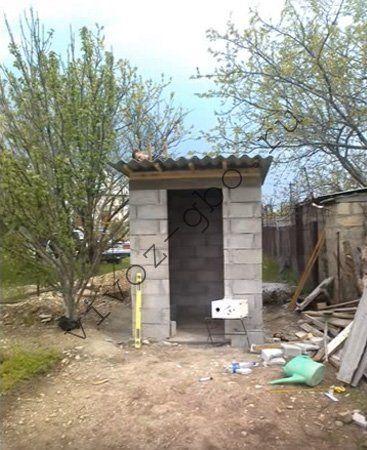 Туалет из кирпича: чертежи, как построить, недостатки