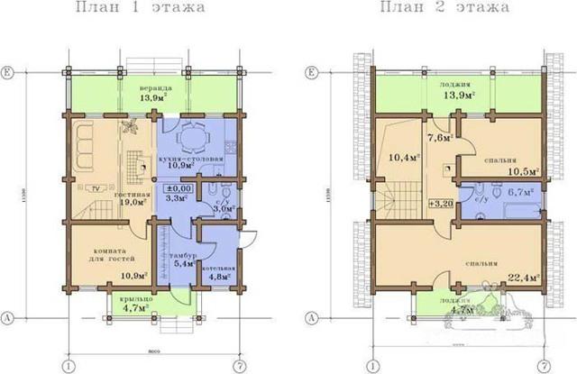 Проект кирпичного дома шале: облицовка, обустройство стен