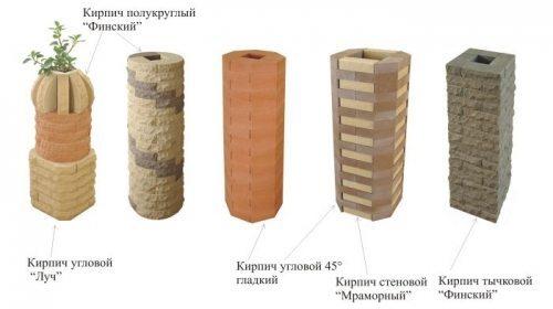 Колонны из кирпича: кладка, разновидности, проектирование