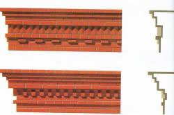 Карниз из кирпича: как делается кладка, разновидности