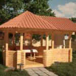 Беседки из кирпича: проекты, этапы стройки, материалы