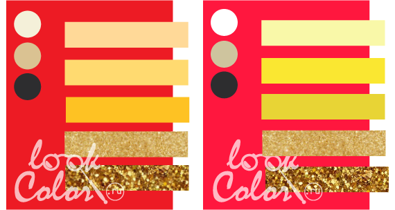 Сочетание цветов кирпича: красный, белый, фиолетовый