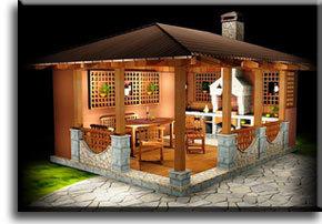 Летняя кухня из кирпича: проекты, чертежи, кладка