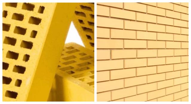 Желтый кирпич: свойства, применение, разновидности