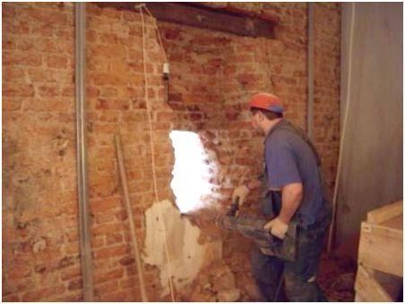 Демонтаж стен из кирпича: основные способы, необходимый инвентарь
