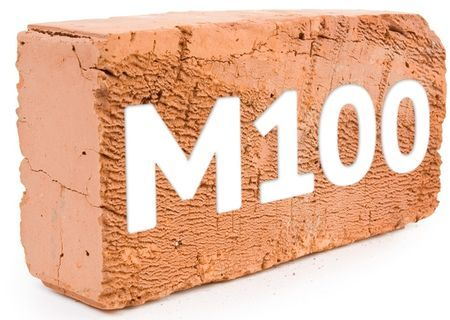 Кирпич М100: характеристики, как использовать