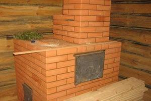 Кирпичная банная печь с открытой каменкой: этапы работы