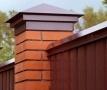 Колпаки на столбы для забора из кирпича: металлические, бетонные