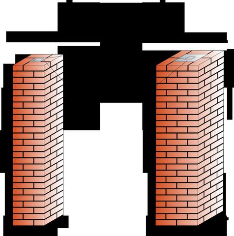 Кирпичные столбы для забора: кладка, размеры, облицовка