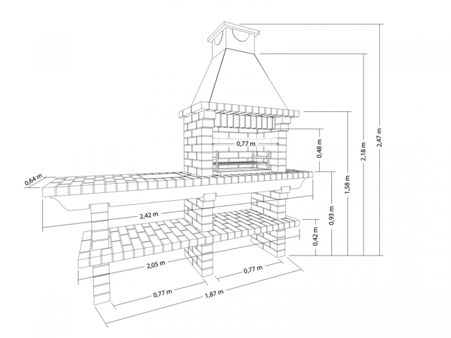 Мангал из кирпича: чертежи, пошаговая инструкция, кладка