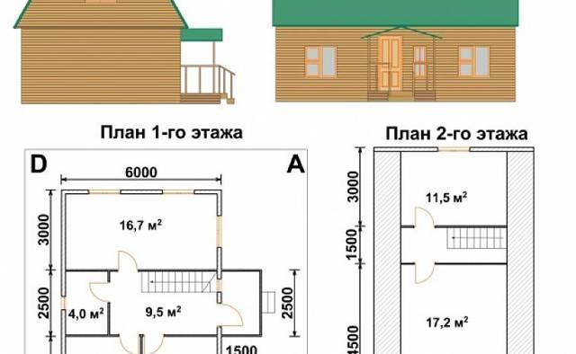 Дом из кирпича 6 на 6: проект, преимущества, отделка