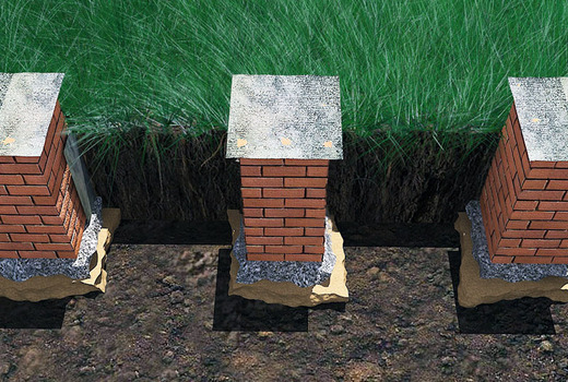 Столбчатый фундамент из кирпича: технология, недостатки