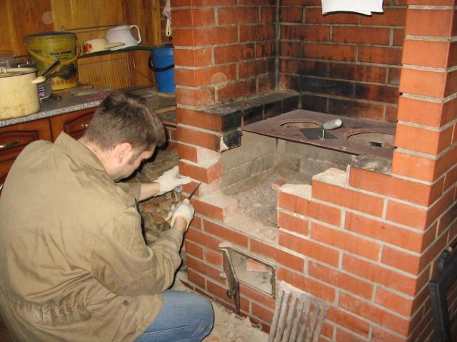 Ремонт печей из кирпича: как делать, причины поломок