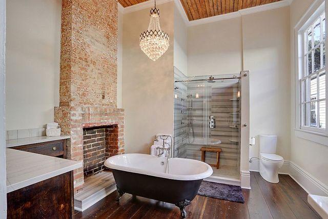 Кирпичные стены в ванной: преимущества, недостатки