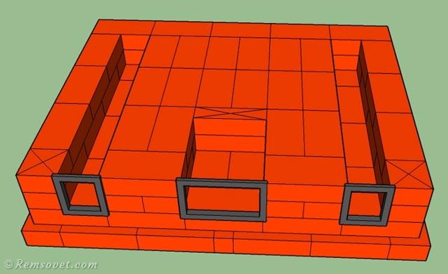 Печь-камин из кирпича: проект, как работает, порядок работ